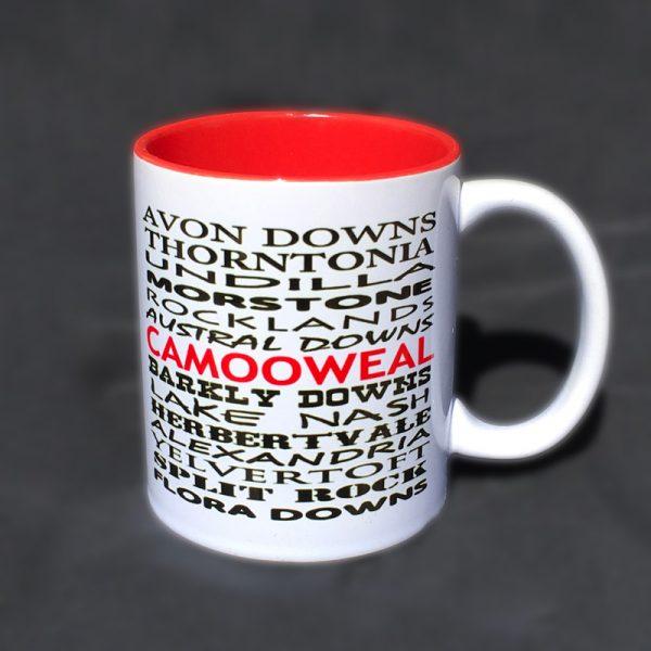 12 oz mug red