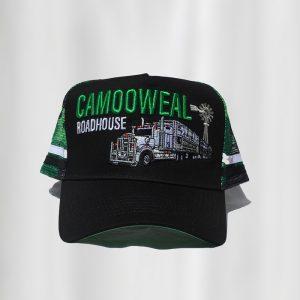 Black-green cap