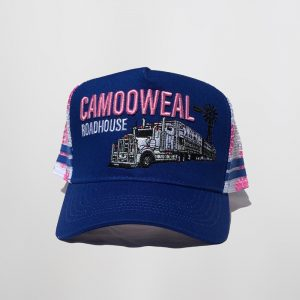 Blue-white-pink cap