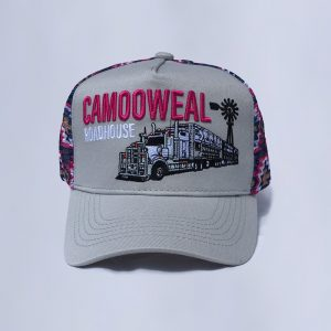 Grey-pink cap