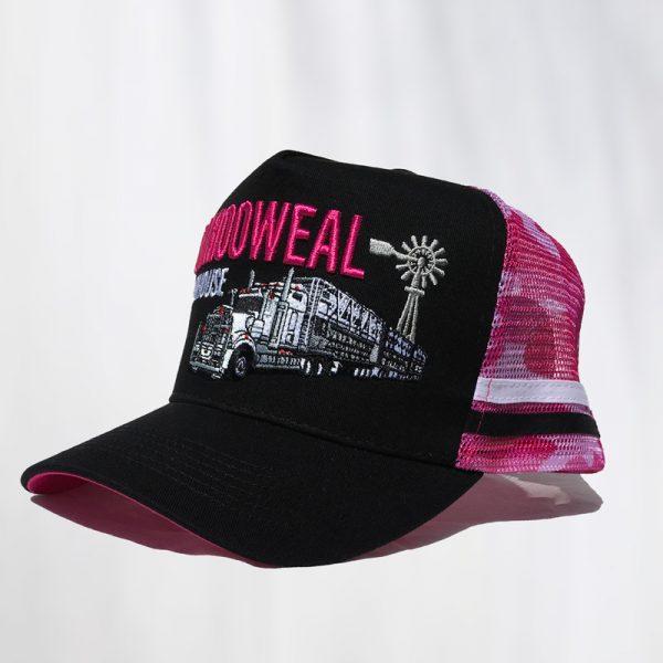 navy pink side