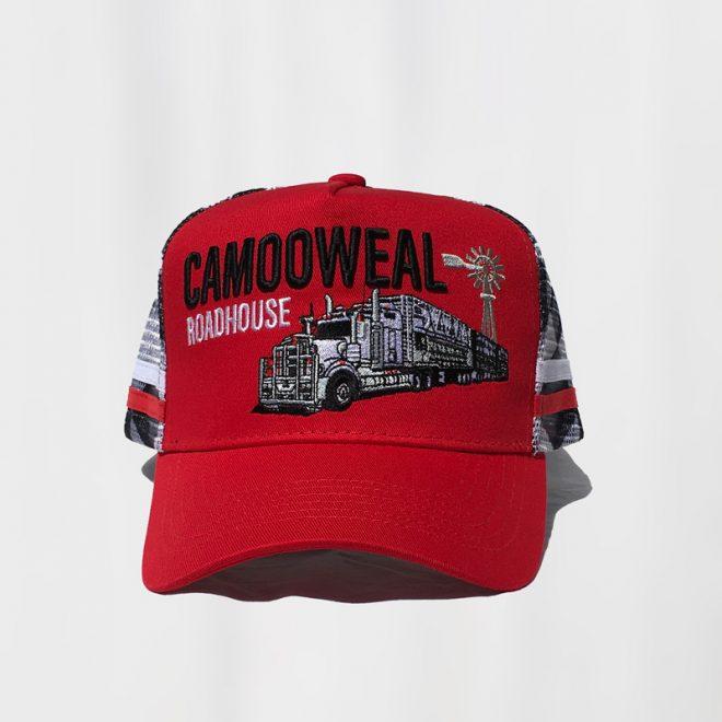 Red-black cap